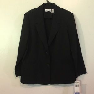 Alfred Dunner Black 🖤 Dress Jacket NWT Sz 16 NICE